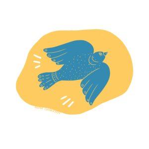 L'oiseau bleu messager